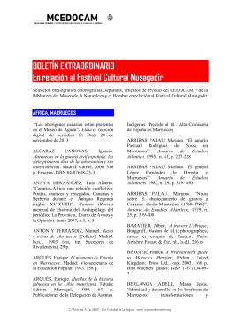"""Boletín de adquisiciones extraordinario """"Musagadir"""""""