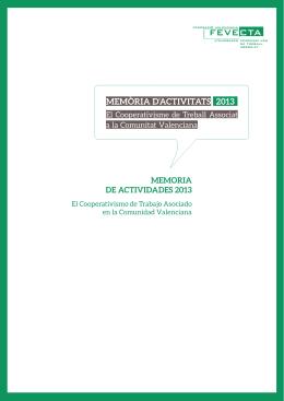 MEMÒRIA D`ACTIVITATS 2013