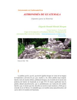 ASTRONOMÍA DE GUATEMALA