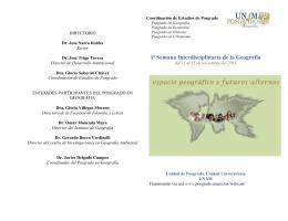 Folleto - Coordinación de Estudios de Posgrado | UNAM