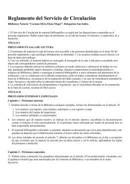 Descargar reglamento-biblioteca - Colegio de Escribanos de San