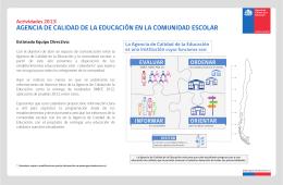 Actividades 2013 - Agencia de Calidad de la Educación