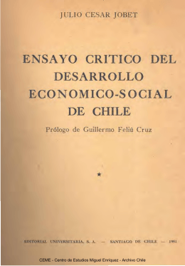 Ensayo crítico del desarrollo económico-social de