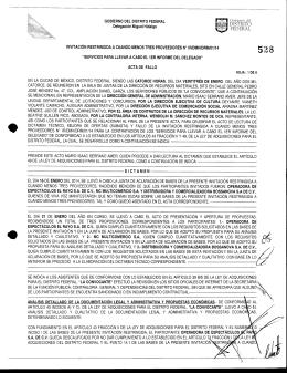 fallo - Delegación Miguel Hidalgo