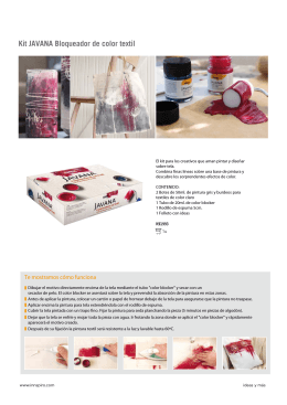 Kit JAVANA Bloqueador de color textil