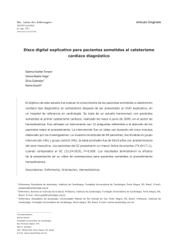 Disco digital explicativo para pacientes sometidos al cateterismo