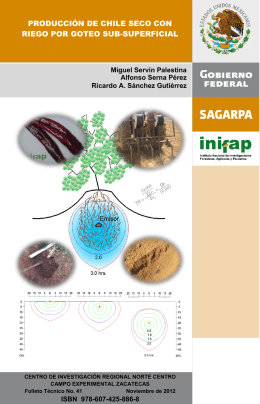 producción de forraje con veza comun - INIFAP Zacatecas