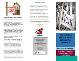 PROYECTO DE PREVENCION DE EJECUCIONES HIPOTECA