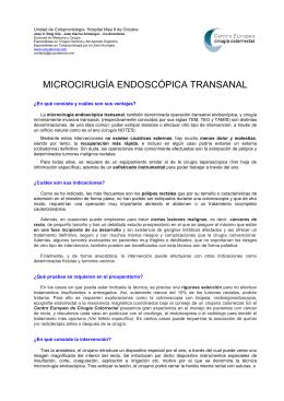 Operación transanal endoscópica