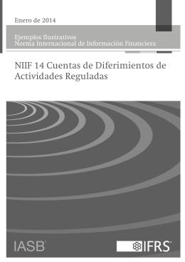 NIIF 14 Cuentas de Diferimientos de Actividades Reguladas