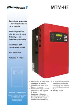 Catalogo serie MTM-HF