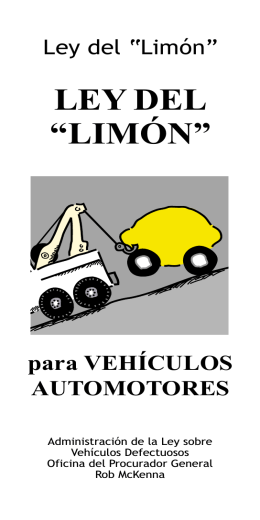 "LEY DEL ""LIMÓN"" - The Mobility Agenda"