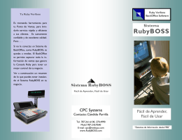 Ver/Descargar Folleto PDF - RubyBOSS