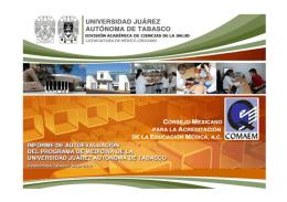 Autoestudio 2012 - Universidad Juárez Autónoma de Tabasco