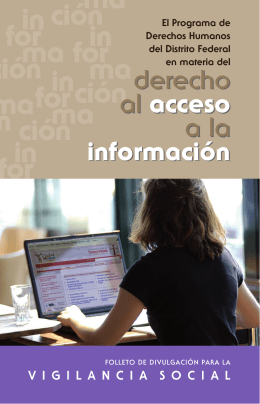 derecho al acceso a la información derecho al