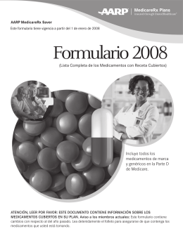 Formulario 2008 - UnitedHealthcare MedicareRx for Groups (PDP)