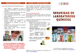 Seguridad en Laboratorios quimicos - ictp