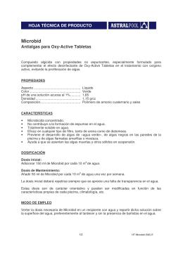 Manual de utilización y ficha técnica