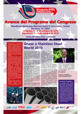 Call for Papers - Stainless Steel World