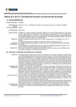 Alterna S.A. de C.V., Sociedad de Inversión en Instrumentos de Deuda