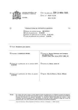 RECIPIENTE PARA ESPUTOS.(ES2064555)