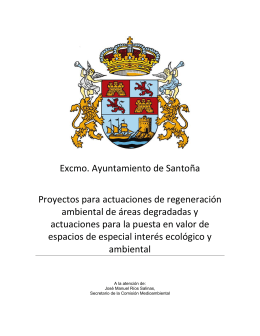 Excmo. Ayuntamiento de Santoña Proyectos para actuaciones de