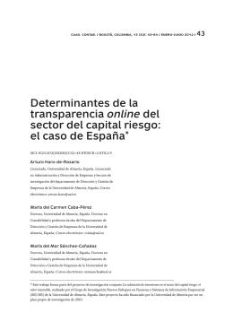 Determinantes de la transparencia online del sector del capital riesgo