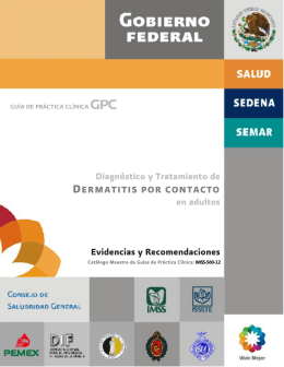 Diagnóstico y Tratamiento de DERMATITIS POR CONTACTO en