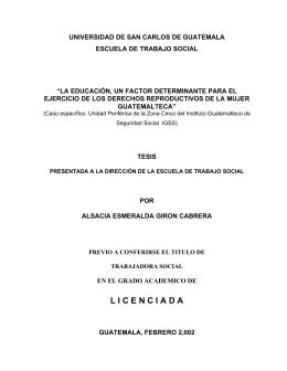 CAPITULO I - Biblioteca Central - Universidad de San Carlos de