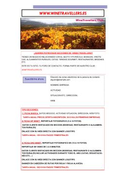 folleto wine travellers