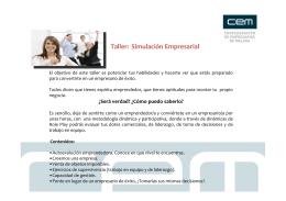 Taller: Simulación Empresarial