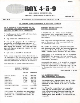 Box 459 - Junio-Julio 1975 - La Vigésima Quinta Conferencia de