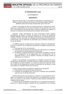 subir fichero - Ayuntamiento de Benavente