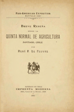 QUINTA NORMAL DE AGRICULTURA