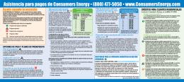 Asistencia para pagos de Consumers Energy • (800) 477