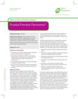 Prueba Prenatal Panorama