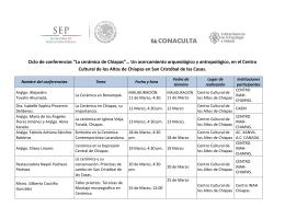 """Ciclo de conferencias """"La cerámica de Chiapas""""… Un acercamiento"""