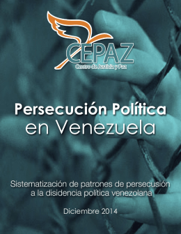 Informe Persecución política en Venezuela