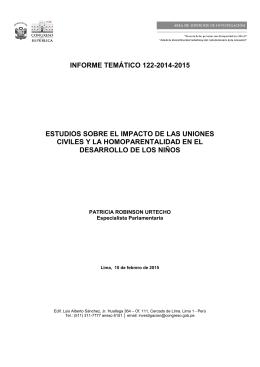 informe temático 122-2014-2015 estudios sobre el impacto de las