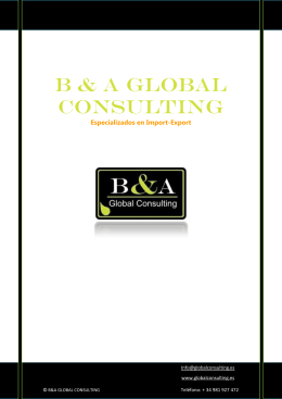 B & A Global Consulting