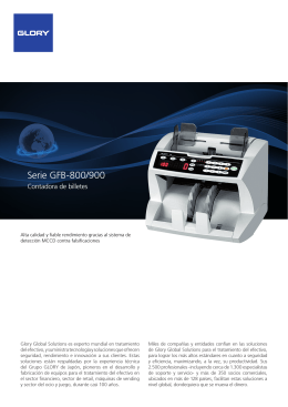 Serie GFB-800/900 - Glory Global Solutions