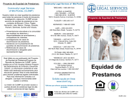 Equidad de Prestamos - Community Legal Services of Mid Florida