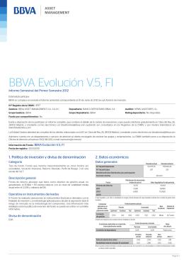 BBVA Evolución V.5, FI - BBVA Asset Management