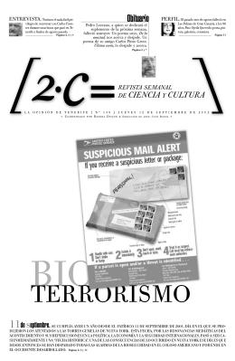 02. Bioterrorismo (Viejos problemas, nuevas amenazas).