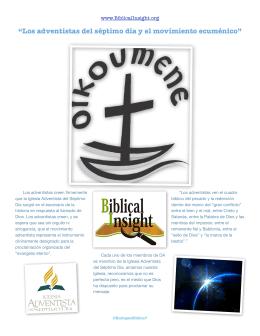 """""""Los adventistas del séptimo día y el movimiento ecuménico"""""""