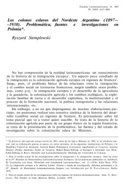 Los colonos eslavos del Nordeste Argentino (1897—