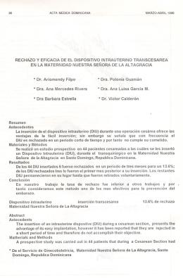 * Dr. Arismendy Filpo * Dra. Polonia Guzmán * Dra. Ana Mercedes