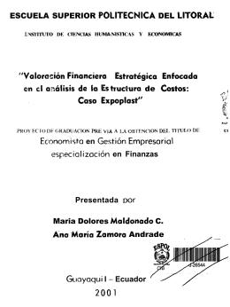 Economista en Gesti6n Empresarial especializaci6n