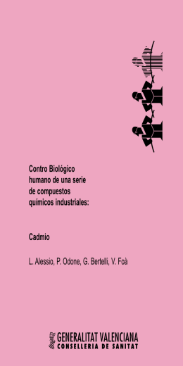 Cadmio. L. Alessio, P. Odone, G. Bertelli
