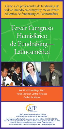 Tercer Congreso Hemisférico de Fundraising